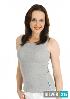 Muscle shirt - Silver-coated garments for women with neurodermatitis - grey